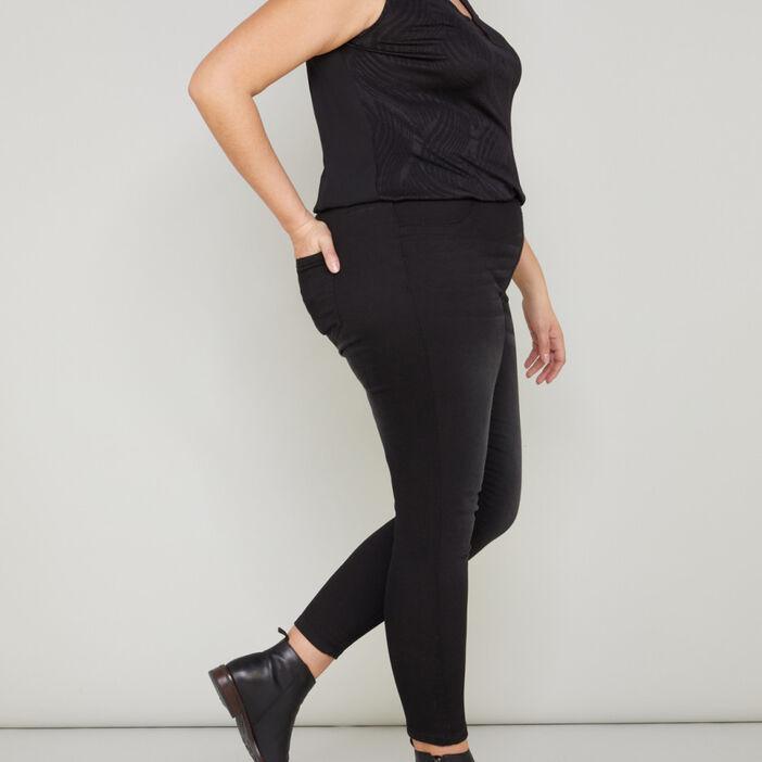 Pantalon jegging femme grande taille noir