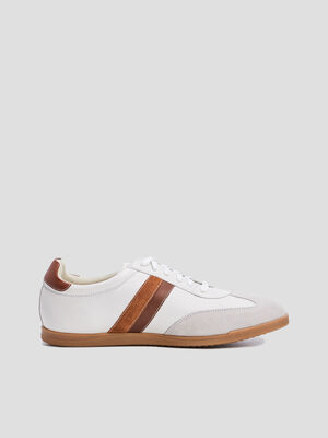 Sneakers a lacets Liberto blanc homme