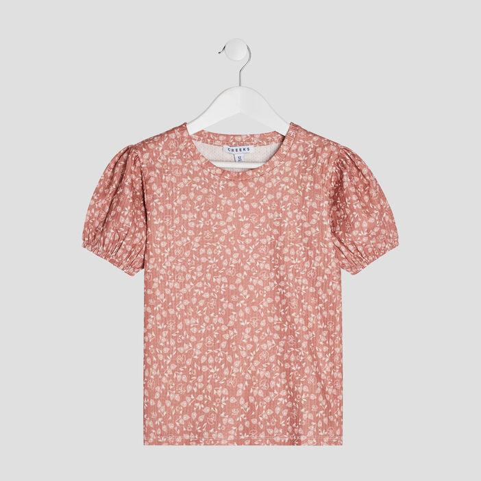 T-shirt manches courtes Creeks fille multicolore