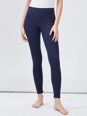 Legging taille standard bleu marine femme