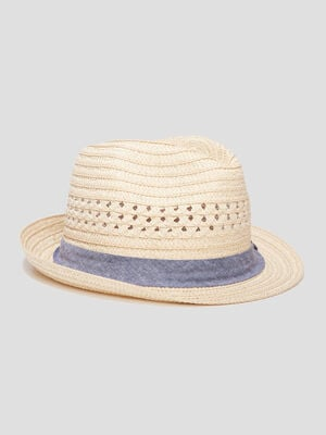 Chapeau borsa ajoure beige homme