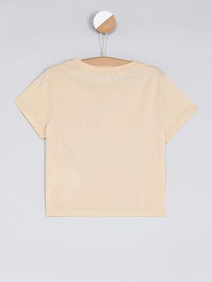T shirt manches courtes rose clair fille