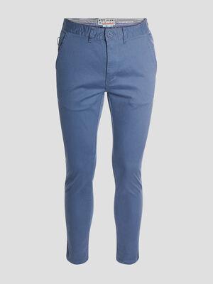 Pantalon ajuste bleu marine homme