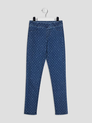 Pantalon jegging denim double stone fille