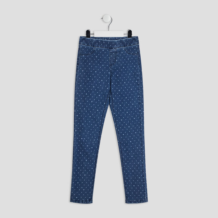 Pantalon jegging fille denim double stone