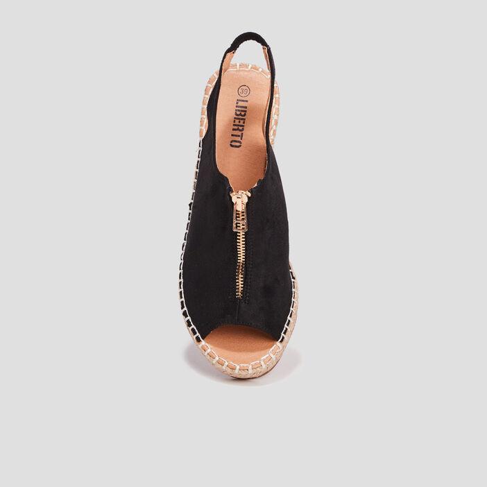 Sandales compensées Liberto femme noir