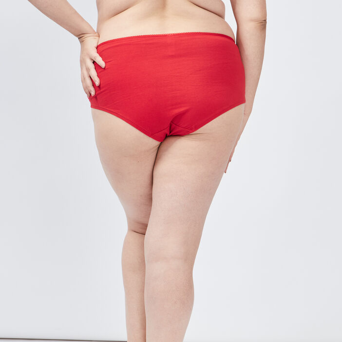 Boxer femme grande taille rouge