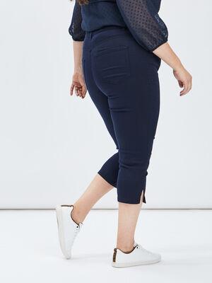 Pantalon corsaire slim bleu marine femmegt