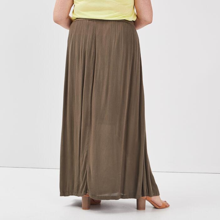 Jupe longue grande taille femme grande taille vert kaki