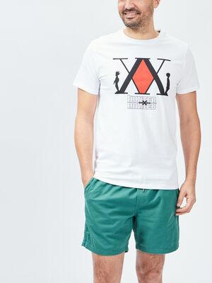 T shirt Hunter X Hunter blanc homme
