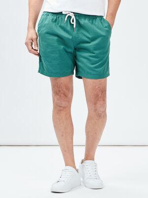 Short droit vert homme
