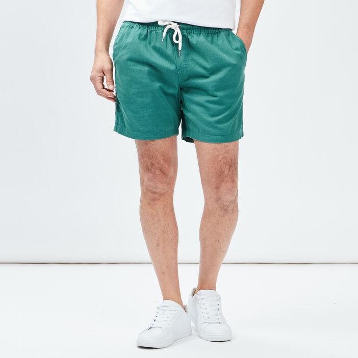 Short droit homme vert