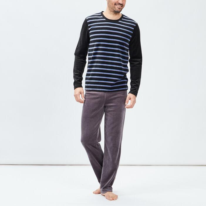 Ensemble pyjama 2 pièces homme bordeaux