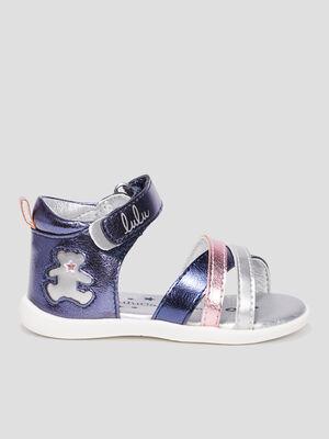 Sandales LuluCastagnette bleu fille