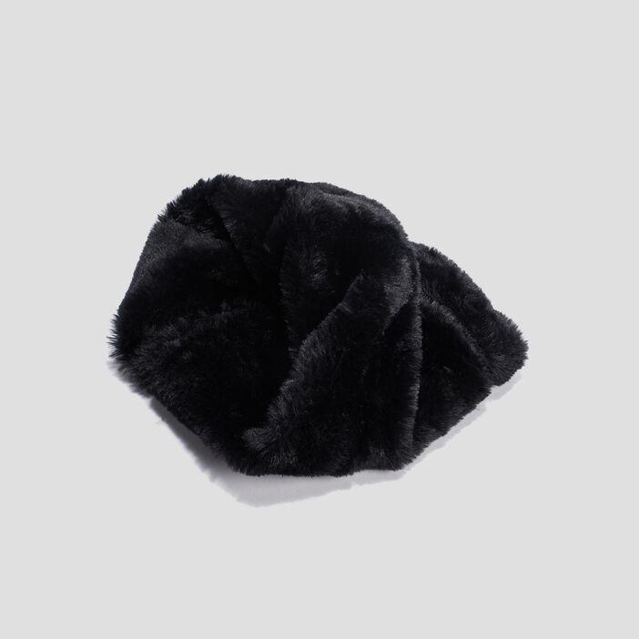 Snood fausse fourrure fille noir