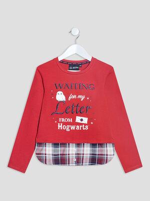 T shirt Harry Potter rouge fille