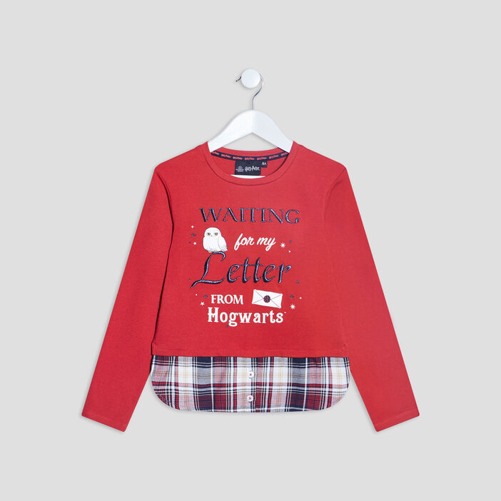 T-shirt Harry Potter fille rouge