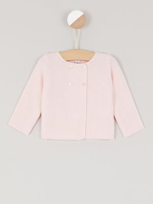 Gilet a double boutonnage rose clair bebef