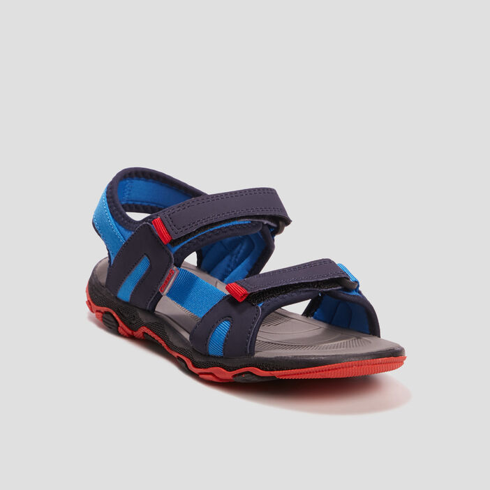 Sandales à scratchs garçon bleu