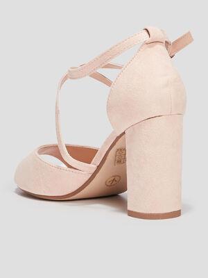 Sandales a bout ouvert rose femme