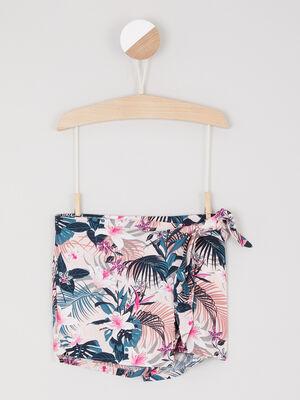 Jupe short a fleurs multicolore fille