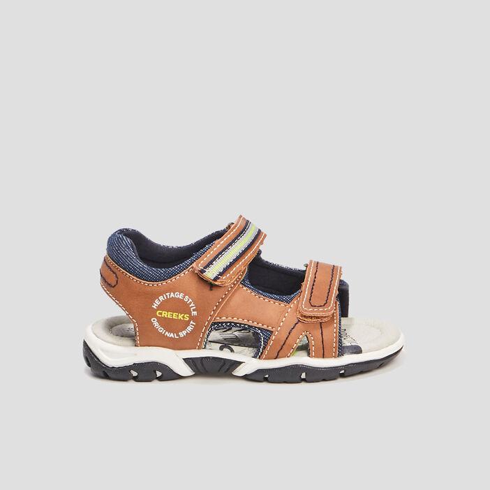 Sandales à scratchs Creeks garçon marron