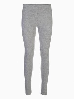Legging long uni gris femme