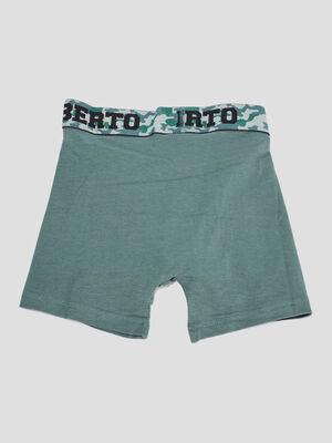 Lot 3 boxers Liberto vert kaki homme