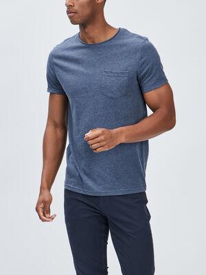 T shirt manches courtes bleu homme