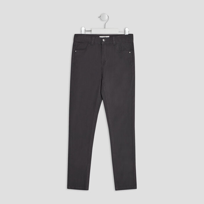 Pantalon skinny fille gris fonce