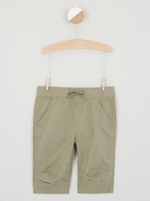 Short Bermuda vert kaki garcon