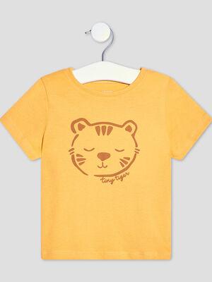 T shirt manches courtes jaune moutarde bebeg