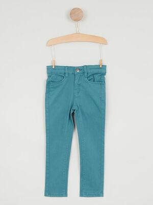 jean droit 5 poches bleu canard garcon