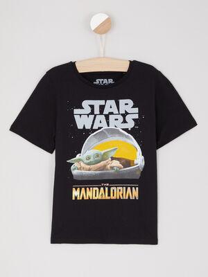 T shirt Star Wars en coton noir garcon