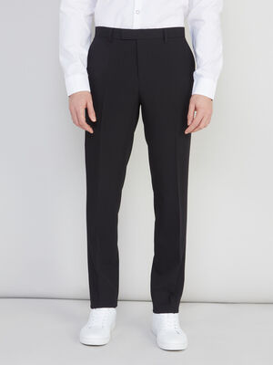 Pantalon slim avec pli noir homme