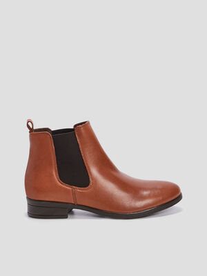 Bottines chelsea plates marron clair femme