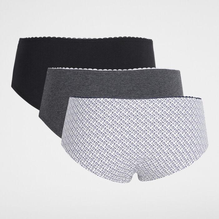 Lot de 3 boxers coton femme noir