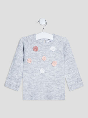 Pull manches longues Creeks gris bebef
