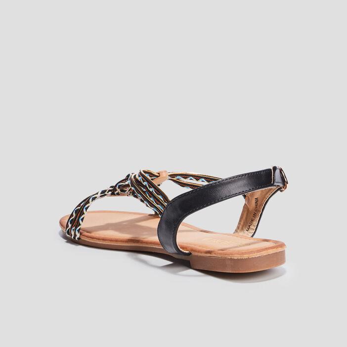 Sandales avec bijoux Liberto femme noir