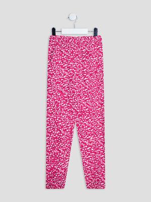 Pantalon droit fluide rose fushia fille