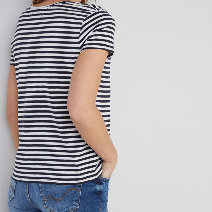 T-shirt imprimé  femme ecru