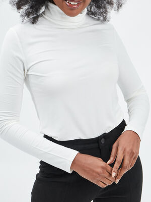 T shirt manches longues ecru femme