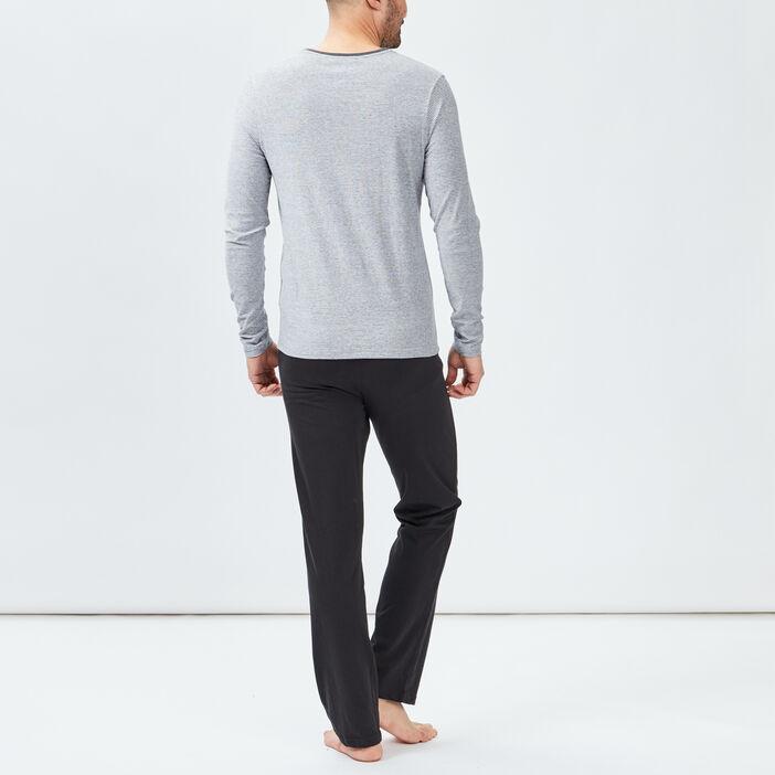 Ensemble pyjama 2 pièces homme gris fonce