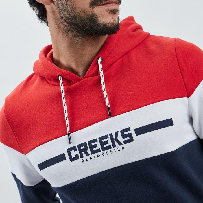 Sweat à capuche Creeks homme rouge