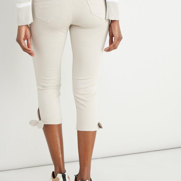 Pantalon femme beige