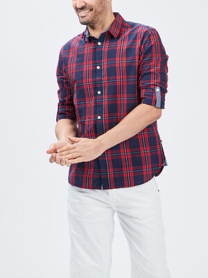 Chemise manches longues Creeks rouge homme
