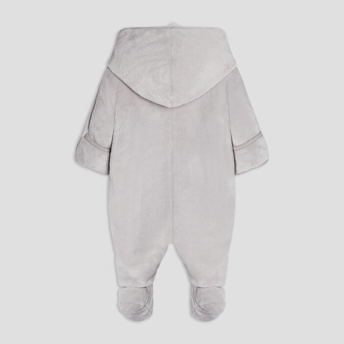 Combinaison à capuche bébé garçon gris clair