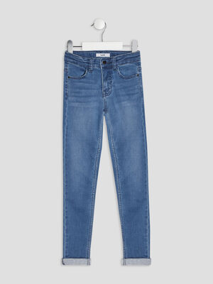 Jeans skinny taille ajustable denim double stone fille