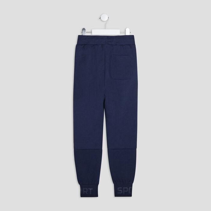Jogging à poches zippées garçon gris foncé