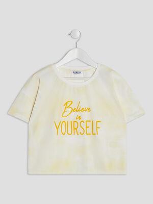 T shirt manches courtes Creeks jaune fille